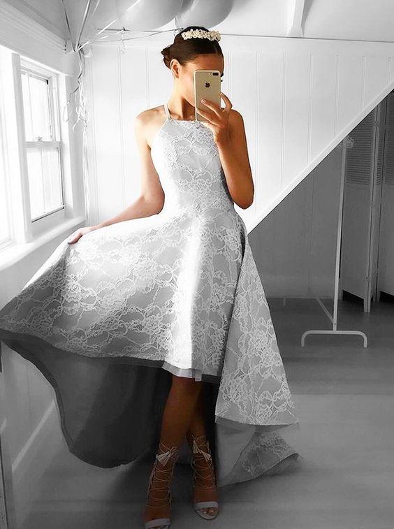 high low dress gray dress