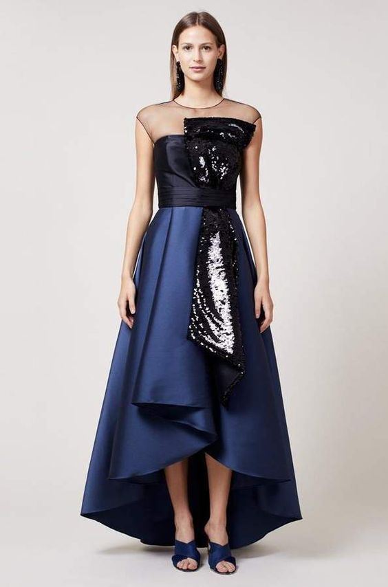 high low prom dress sequin