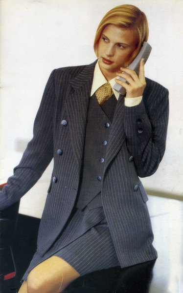 gray striped double breasted suit with shirt and vest