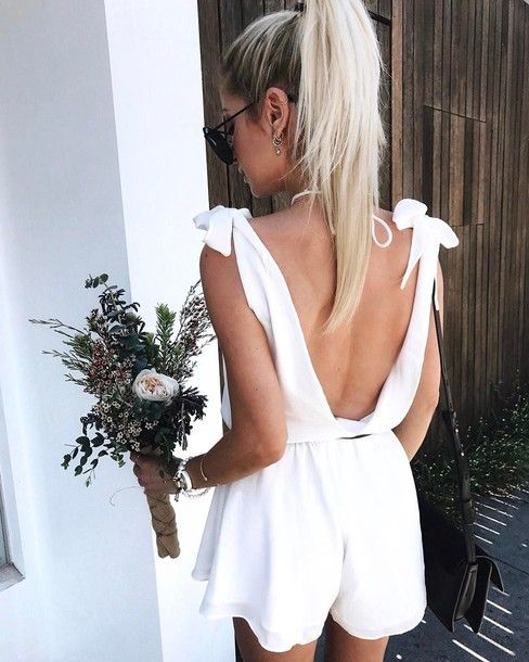backless knot band with jumpsuit