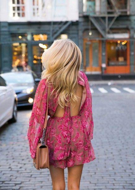 backless jumpsuit pink