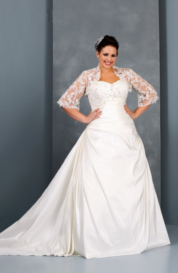 best white lace jacket with strapless wedding dress