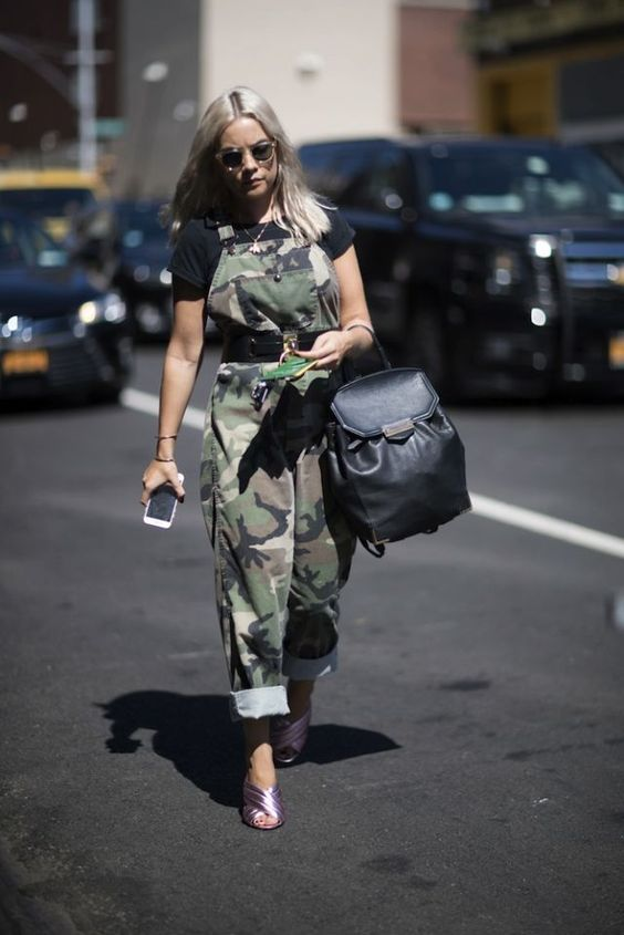 camo overalls backpack