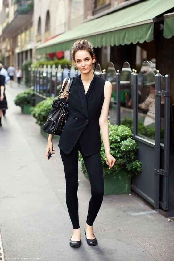 black knitted handbag sleeveless blazer