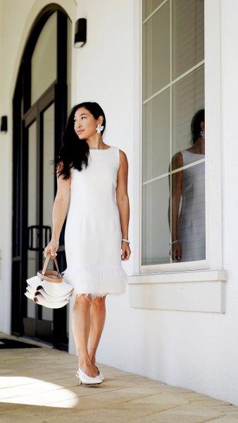 white sleeveless spring dress