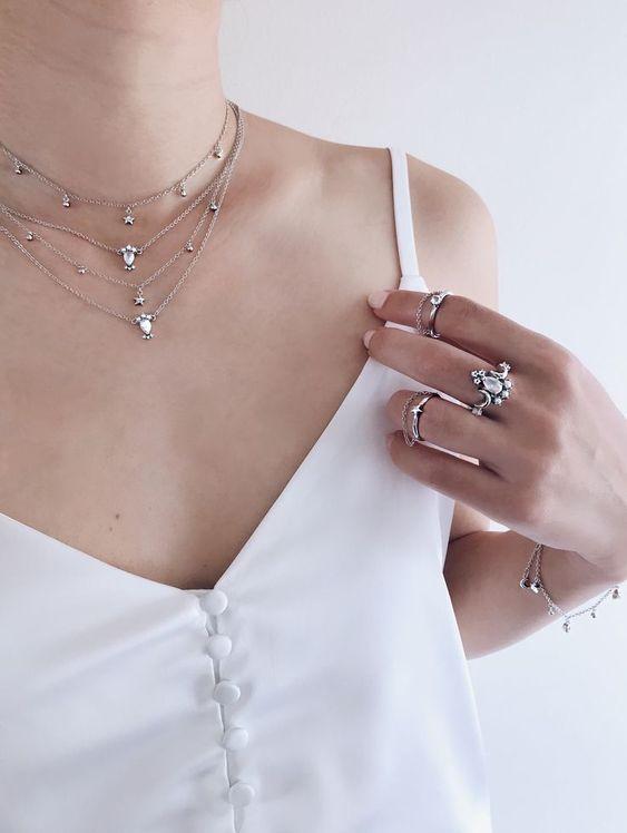 silver choker necklace matchy