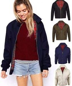 navy blue harrington jacket with burgundy sweater blue denim shorts