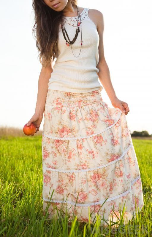 tassel skirt floral print