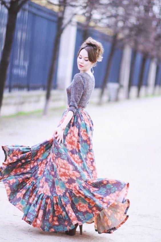 tassel skirt floral gypsy