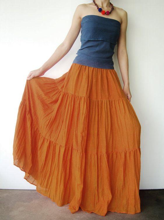 tassel dress orange