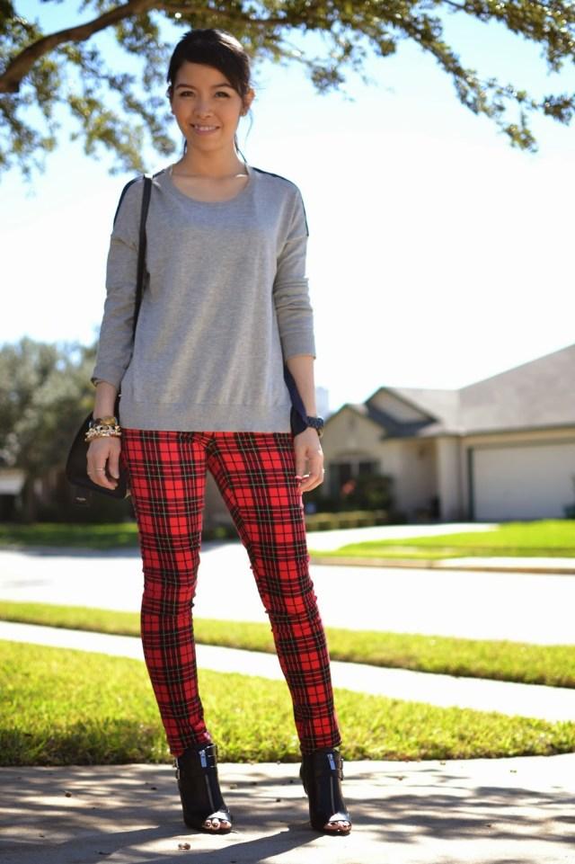 checkered leggings sweatshirt