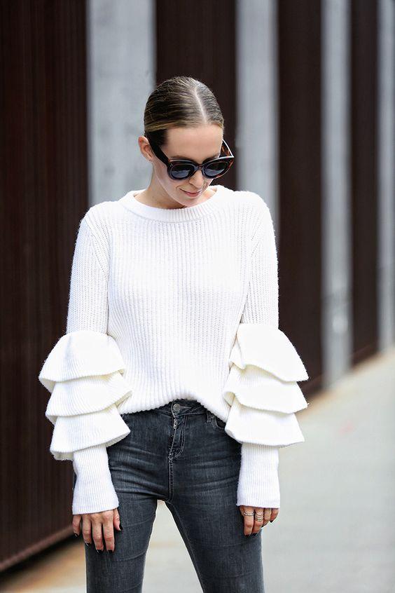 ruffle sleeveless white delicate