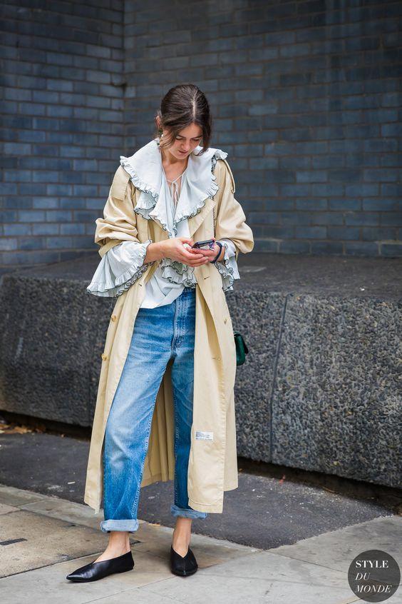 ruffle sleeveless trench coat