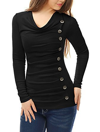 black top with button details at the front
