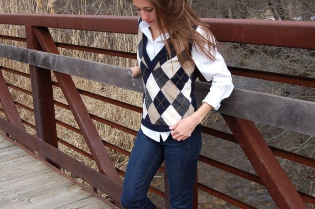pink white black diamond patterned western shirt jeans
