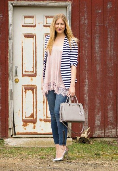 blush pink chiffon-lined jeans