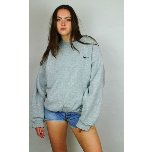 gray oversize logo embroidered hoodie light blue mini denim shorts