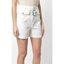 blush pink top white shorts