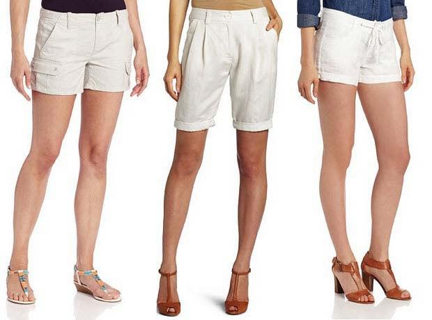 dark blue chambray shirt white mini load shorts