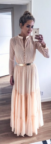 white crochet pleated chiffon plant dress