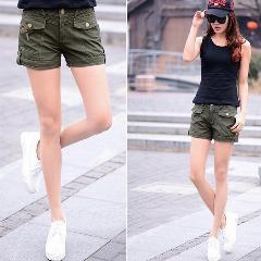 black top with khaki cargo shorts