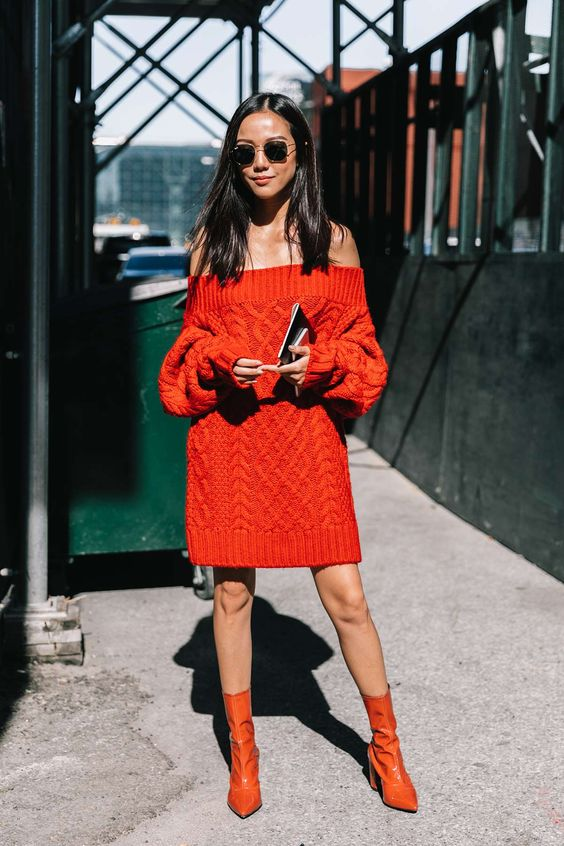 sweater dress everything red everything
