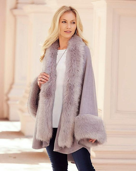fur coat purple