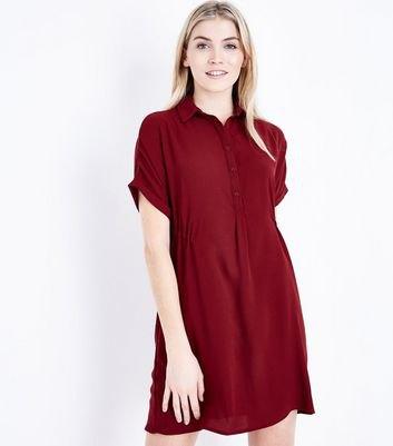 short sleeve mini shirt dress