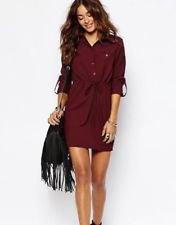 burgundy belt shirt dress black ankle boots