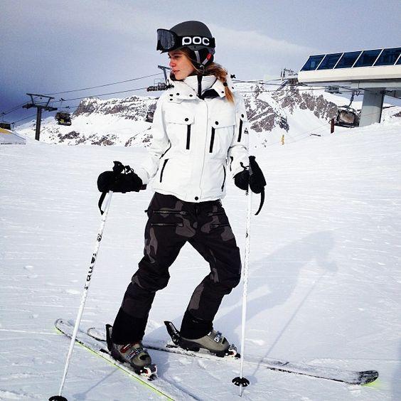 ski pants military print
