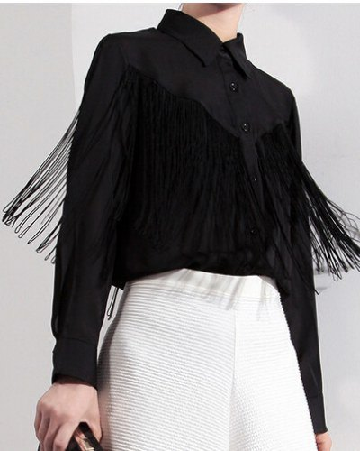 black french button up shirt white midi shirt