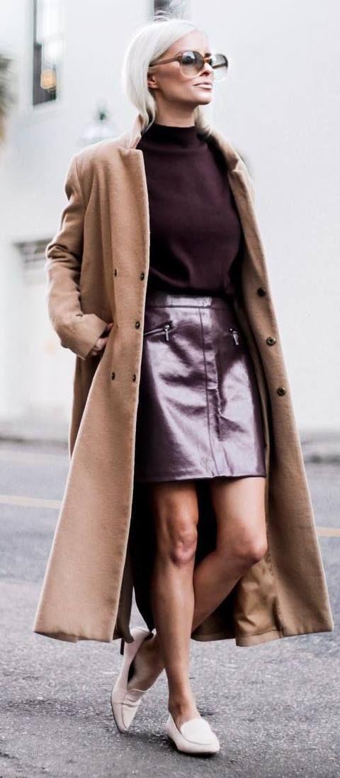cashmere skirt metallic