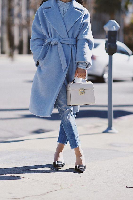 cashmere skirt blue