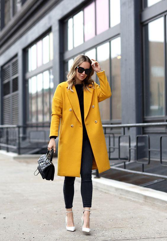 cashmere skirt yellow