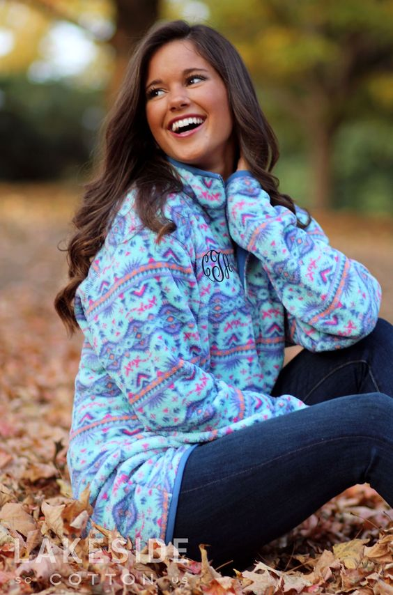 fleece sweater printed
