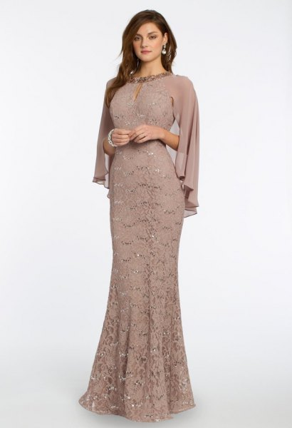 rouge pink lace maid dress
