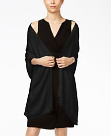 black v-neck shift dress