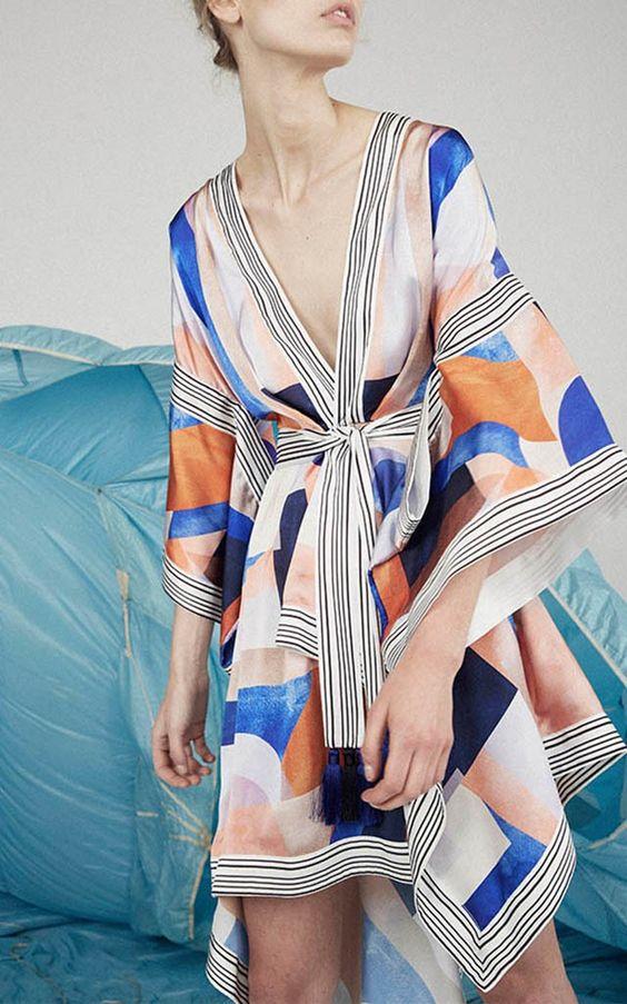 scarf dress pastel palette