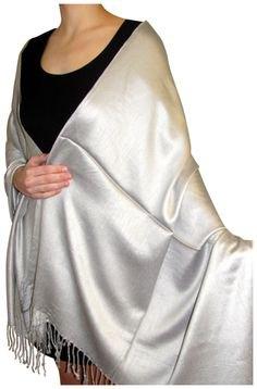 silver fringed shawl black tank mini dress