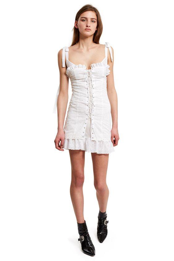 white corset dress romantic