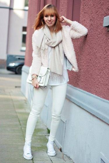 white teddy skinny skinny jeans