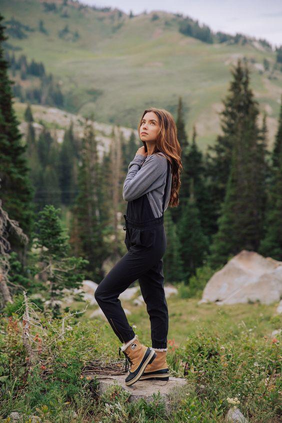 leather hiking jumpsuit