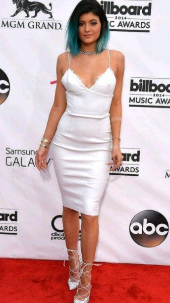 white deep v-neck cami bodycon dress