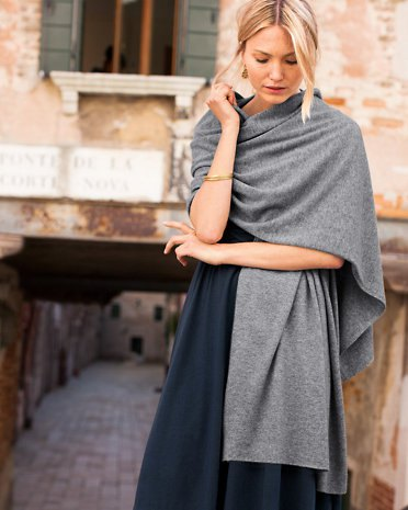 gray cashmere wrap navy blue maxi dress