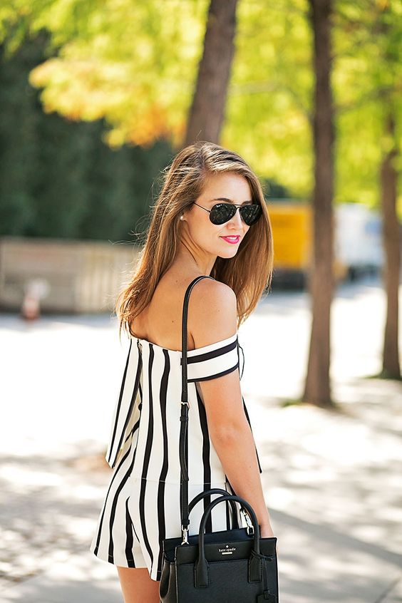 black and white jumpsuit skirts