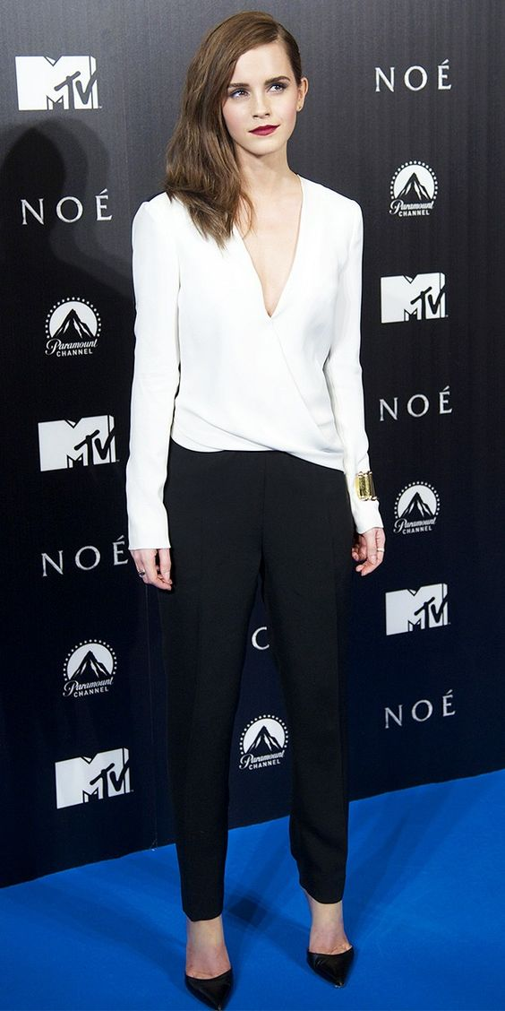 black and white jumpsuit emma