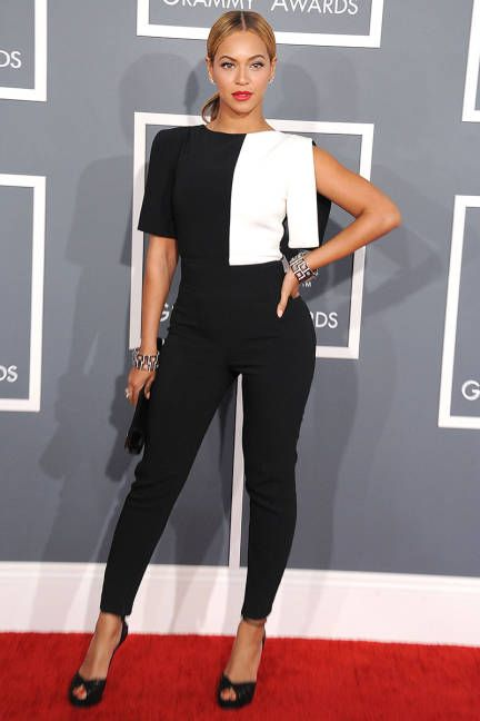 black and white jumpsuit beyonce