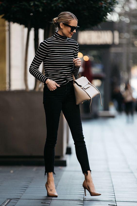 frayed bottom jeans black