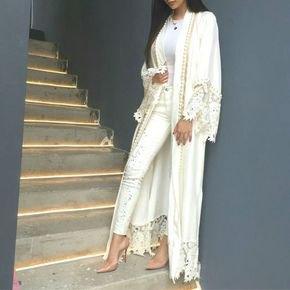 long lace kimono white upholstery