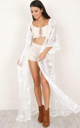 white lace crop top mini shorts